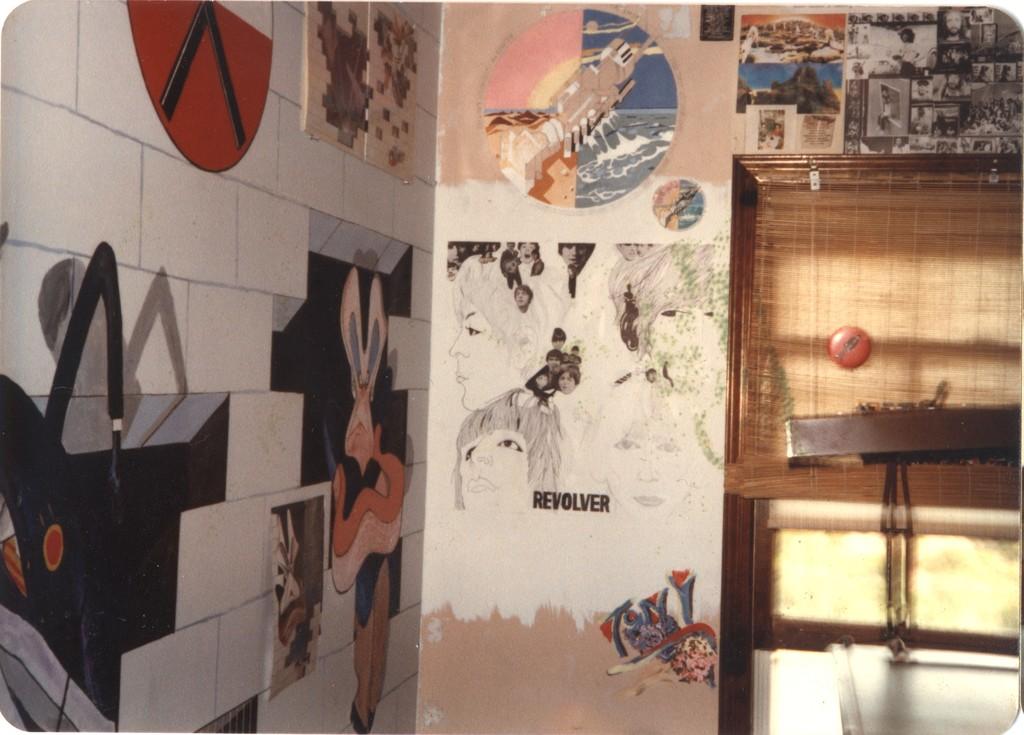 Beatles 39 revolver album mural for Beatles wall mural